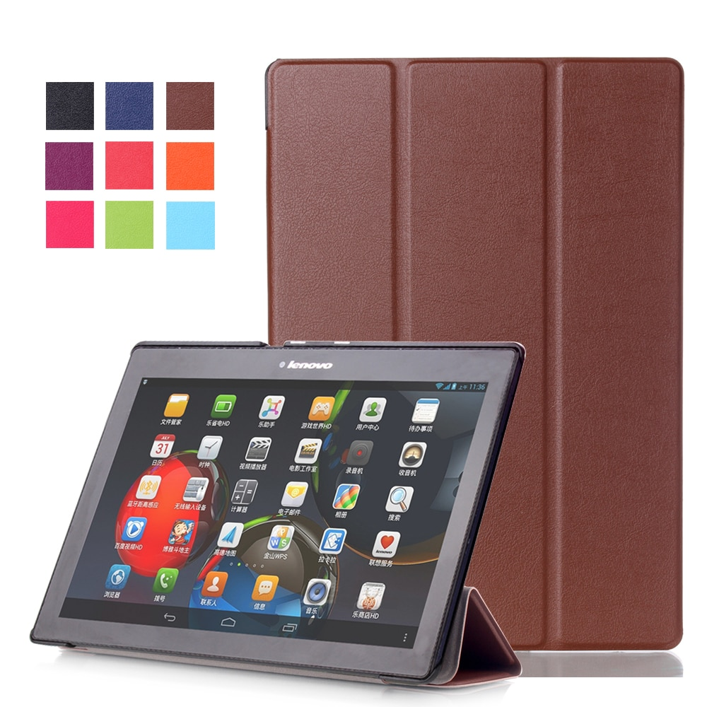 Folding Flip For Lenovo A10-30F TB2 X30L X30F Tablet 10.1 Case Stand Leather Cover Case For Lenovo T