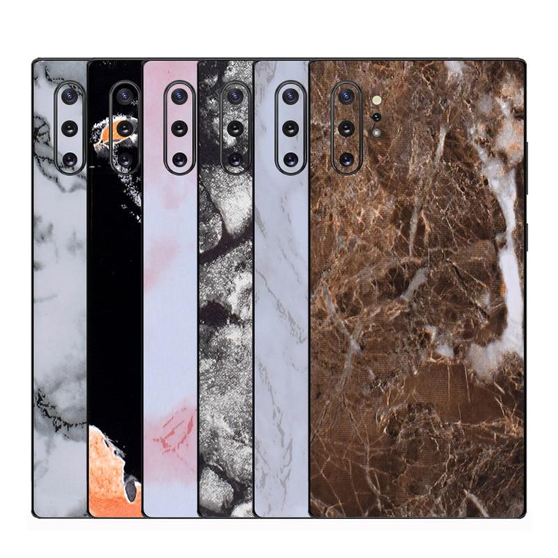 Película mate de mármol para envolver la piel del teléfono Back Paste Sticker para SAMSUNG Galaxy Note 10 + S10 Plus S10e S9 S8 + Note 8 9 película protectora