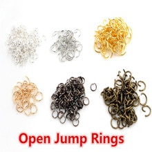 Anneaux de saut en boucle ouverte 200 pcs/lot 4 5 6 7 8 mm pulls ouverts pour la fabrication de bijoux bricolage collier Bracelet résultats connecteur fournitures