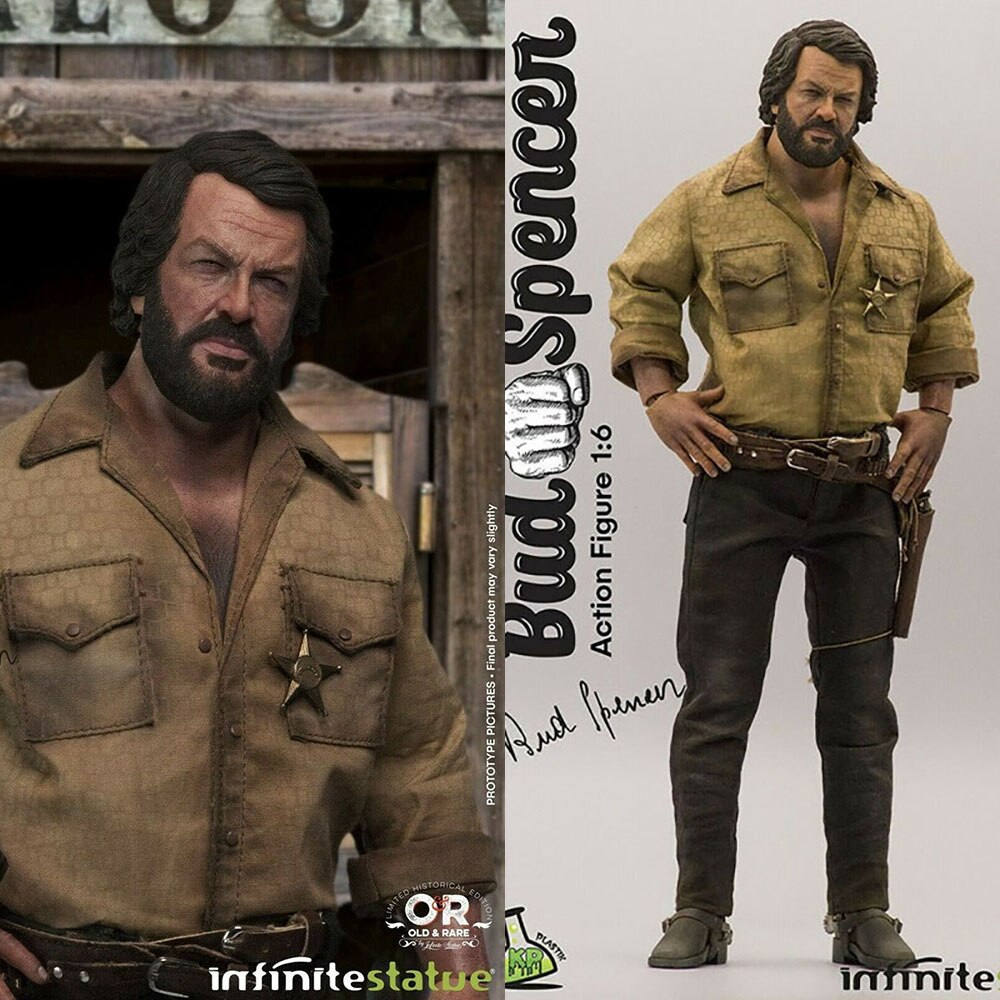 """KAUSTIC PLASTIK & Infinite Statue 1/6 Scale Bud Spencer Movable Action Figure Model for 12"""" Action Figure Toy for Fans Gifts"""