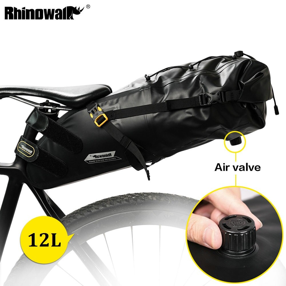 RHINOWALK Full Waterproof MTB Bike Bicycle Saddle Bag Cycling Rear Pack Panniers 5L/10L/12L Tail Seat Bag Bike Accessories