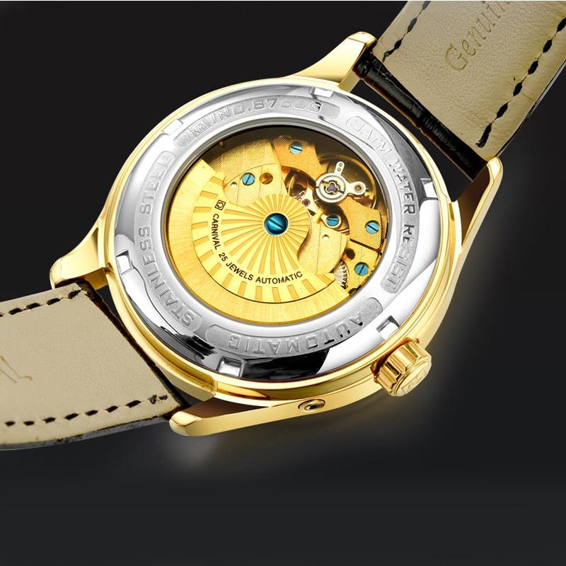 CARNIVAL Brand Fashion Business Watch Man Luxury Energy Display Mechanical Automatic Wristwatch Waterproof Luminous Reloj Hombre enlarge