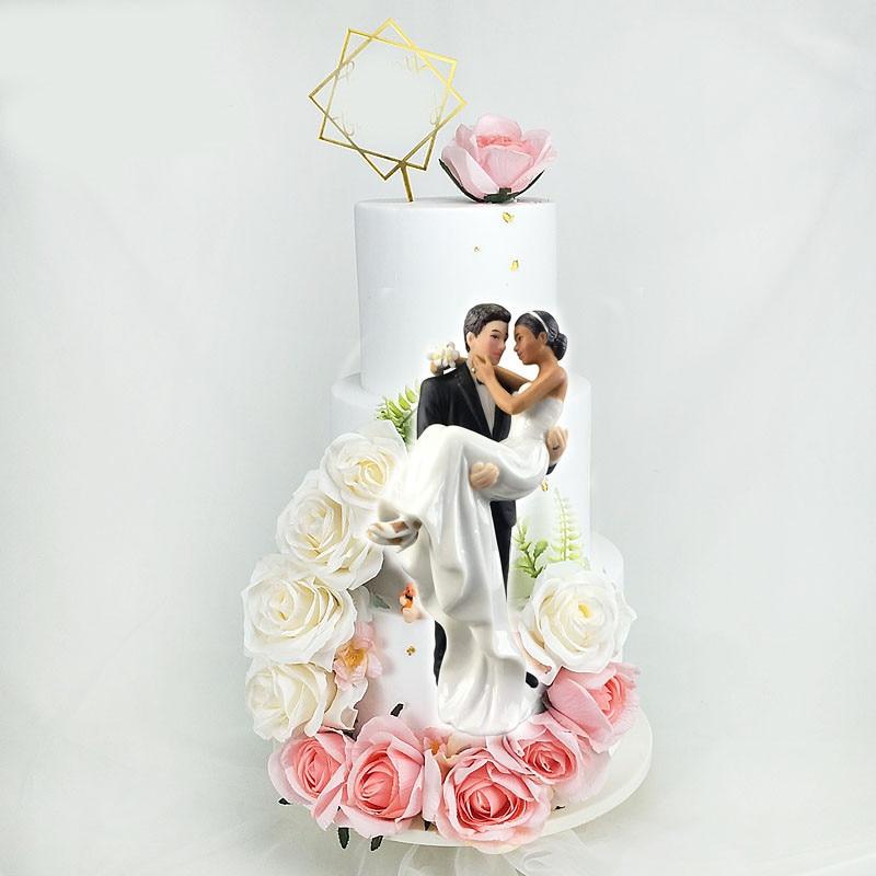 Décorations de gâteau pour mariage   Fournitures décoratives de décoration pour cupcake, décorations pour fête du marié et de la mariée, décorations pour gâteau de mariage