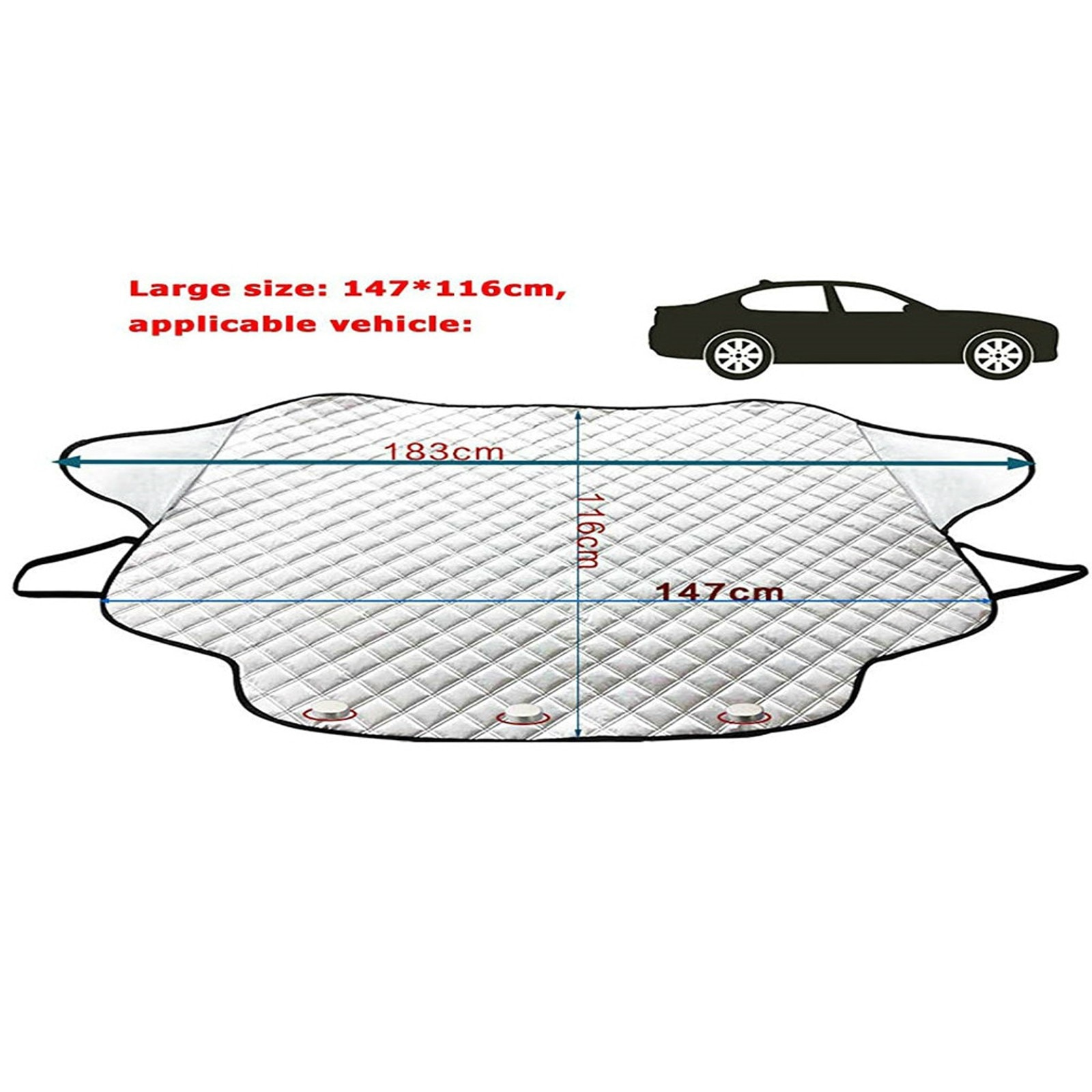 Car Front Windshield Magnetic Anti-Frost Snow Anti-Freeze Cover General Car Ice Frost Sunshade Protector Car Accessories 1030