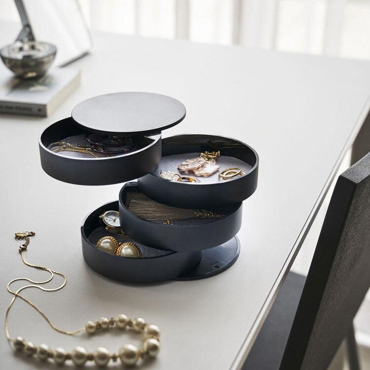Jewelry Storage Box 4-Layer  360 degree rotating floor type  Jewelry Accessory Storage  bedroom supplies