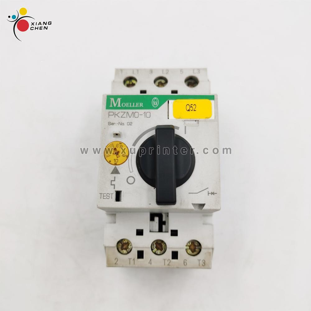 Usado moeller motor protetor starter PKZM0-10 q52 máquina de impressão de botão rotativo