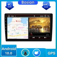 64g 10 polegada android 10.0 gps navegação autoradio multimídia rádio player bluetooth wifi mirrorlink universal 1din rádio do carro