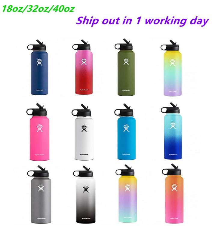 Hydro 18oz/32oz/40oz  Flask Thermos Double Wall Vacuum Insulated Water Bottle Drinking thermos bottle