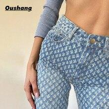 TiLeewon Fashion Vintage Jeans 2020 Women High Waist Streetwear Cargo Jean Casual Slim Woman Denim P