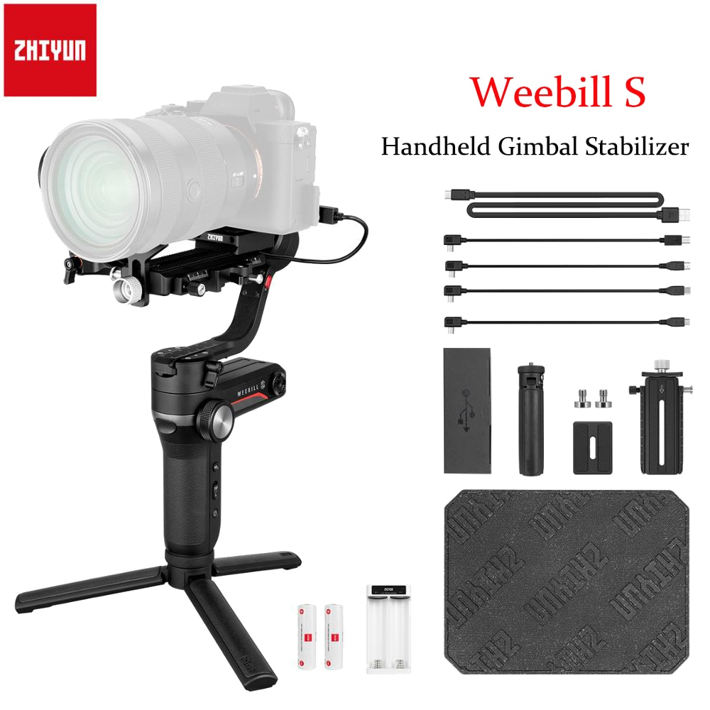 ZHIYUN weebell S 3-Axis يده مثبت أفقي شاشة OLED لكاميرات DSLR و Canon EOS R A7III A7M3 Z6 Z7 S1 بدون مرآة