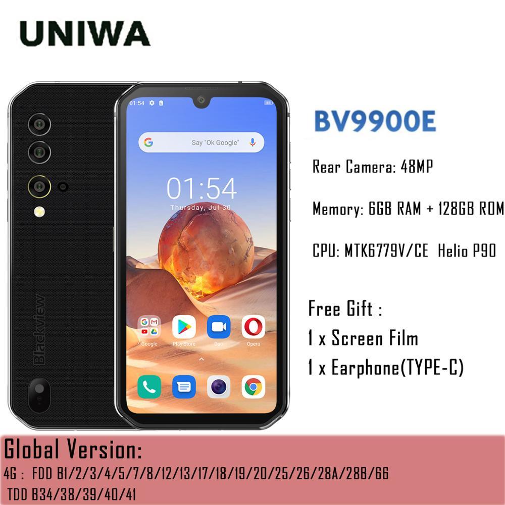 Blackview BV9900E Helio P90 IP68 مقاوم للماء هاتف ذكي متين 6GB + 128GB NFC أندرويد 10 الهاتف المحمول 4380mAh 48MP الكاميرا في الأوراق المالية