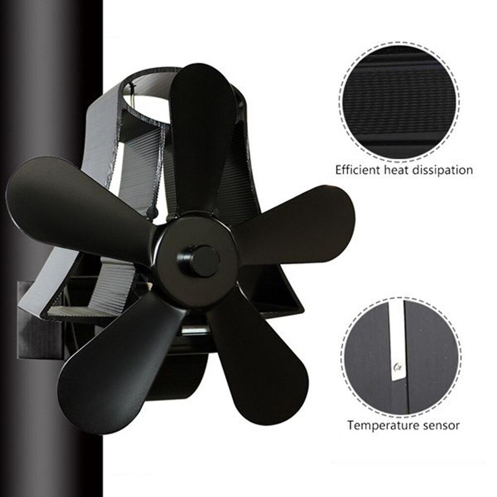 Дровяная печь зимний тепловой вентилятор для камина 5 лопастей вентилятор для печи, работающий от тепловой энергии дровяная горелка тихий ч...