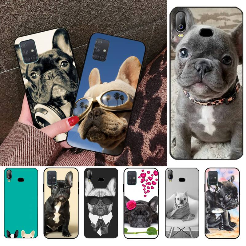 Панель в форме французского бульдога собака Роскошный чехол для мобильного телефона для Samsung Galaxy A01 A11 A31 A81 A10 A20 A30 A40 A50 A70 A80 A71 A91 A51