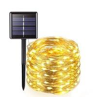 Уличная Светодиодная лампа на солнечной батарее, водонепроницаемый светильник для украшения сада, «сделай сам», Рождество, простая установ...