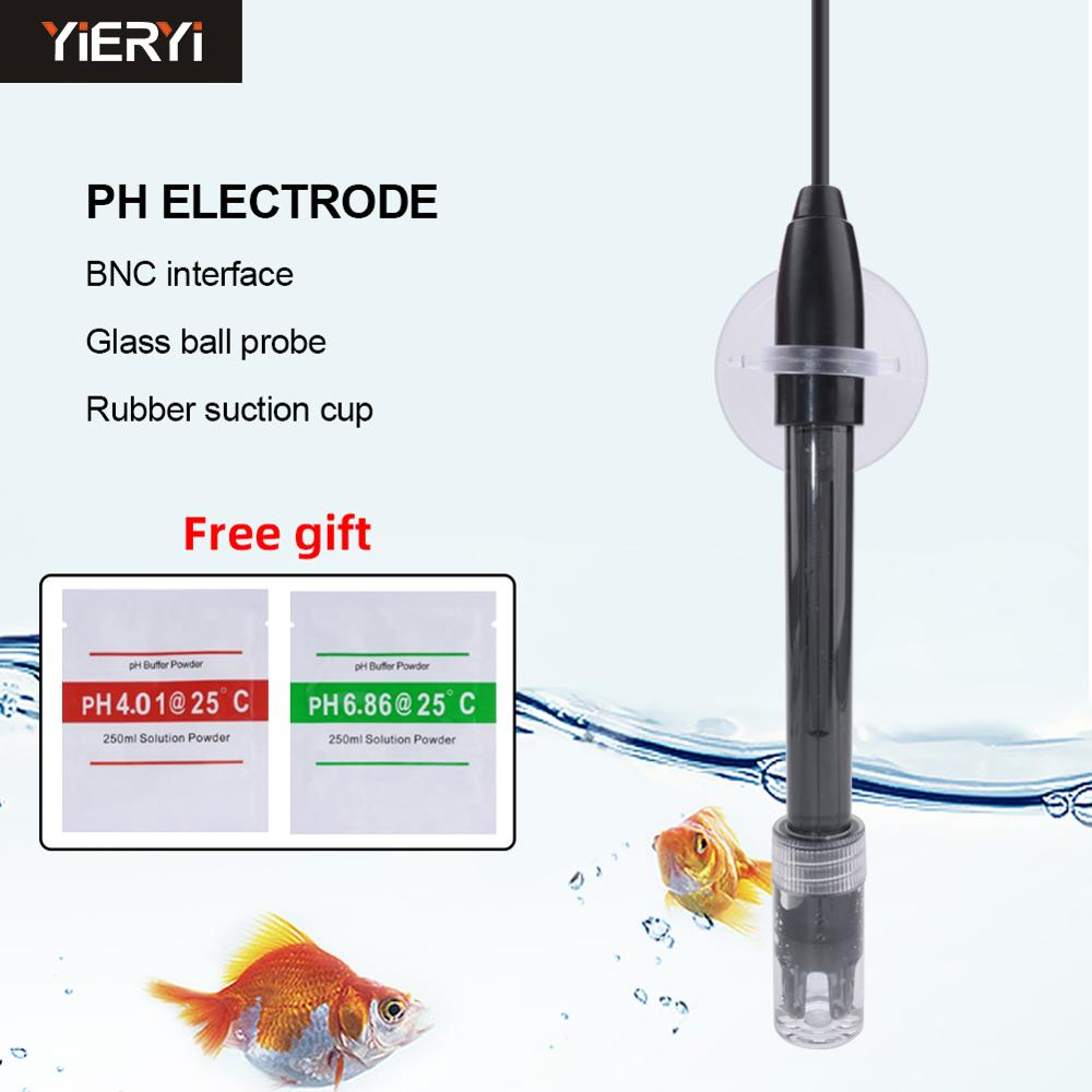 Yieryi PH-Controller Meter Sensor Gip PH-Elektrode Sonde Bnc-anschluss für Aquarium Hydrokultur Labor
