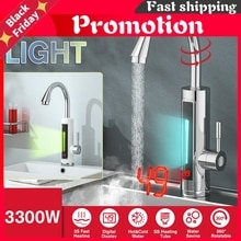 3300W Electric Instant Water Heater Faucet Tap Temperature Display 360 Degree Rotatable Instant Heat
