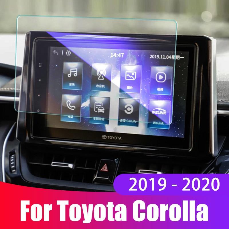 Película protectora de pantalla para coche para Toyota Corolla 2019 2020, accesorios, pantalla de navegación para coche, cubierta protectora de vidrio templado, pegatina
