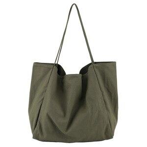 Fashion Casual Lady Canvas Bag Large  Handbag Shoulder Bag Summer Travel Can Large Capacity Zip Soft Handbags