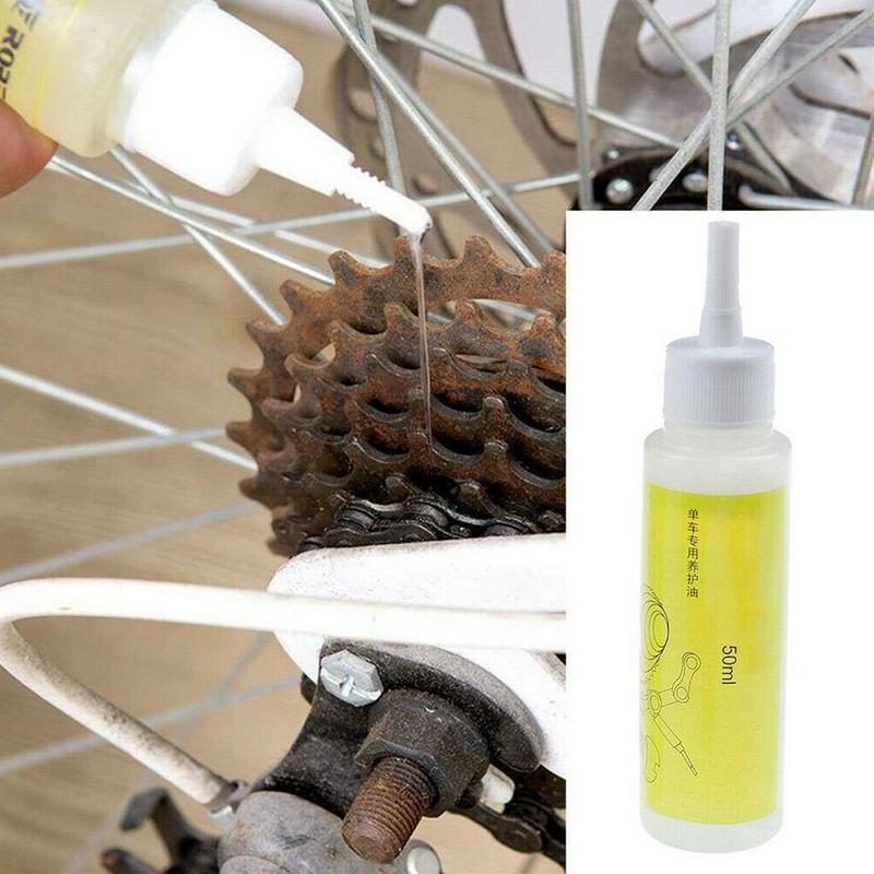 Ciclismo lubrificante líquido de limpeza acessórios ciclismo 1 garrafa lubrificante corrente 50ml bicicleta óleo especial m2g4