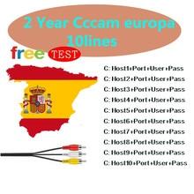 Europe 2Years 10lines CCCAM europa Services Europe Spain Germany for DVB S2 V8 NOVA,V9 SUPER Full HD satellite TV receiver boxes