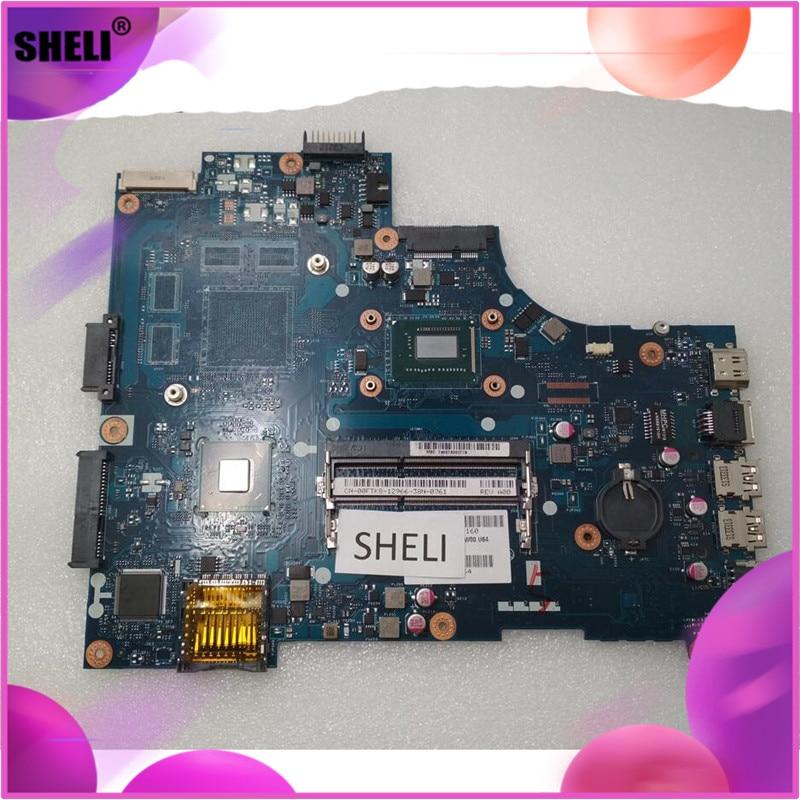 SHELI CN-00FTK8 00FTK8 0FTK8 For Dell 15R 3521 5521 Motherboard with I3-3227U LA-9104P