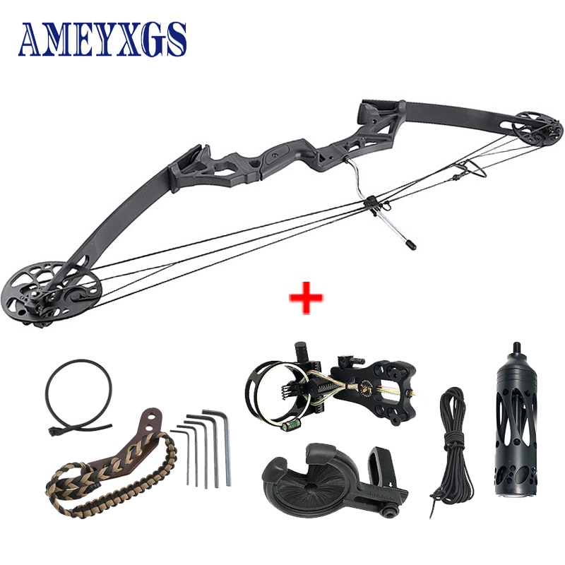 1set 35-50lbs Adjustable Archery Compound Bow Draw Length 19.5-30Inch Arrow Speed 260fps Hunting Crossbow Shooting Accessories