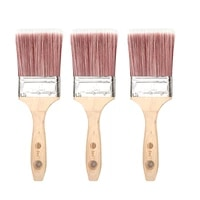3 inch 76 2mm synthetic paint brushes beech wooden handle drywall tools diy art household wall tool oil painting tool
