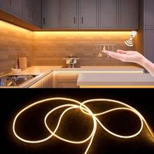 Capteur de balayage à la main sous la lumière Led pour armoire 12V maison néon bande étanche cuisine Smart applique garde-robe veilleuses