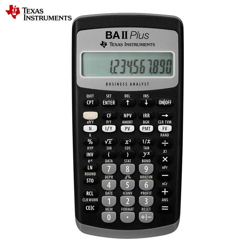 رائجة البيع Ti BAII زائد 12 أرقام البلاستيك Led حساب التفاضل والتكامل الحسابات المالية الطلاب حاسبة المالية