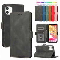 2021 card stand slots phone bag cover retro leather flip wallet case for iphone 12 mini 11 pro xs max x xr 6 6s 8 7 plus 5 5s se