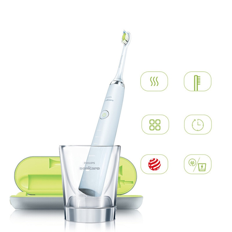 Philips Sonicare HX9340 Sonic Quality Electric Toothbrush Diamond Clean White 360 Wave with Travel Charger for Adult enlarge