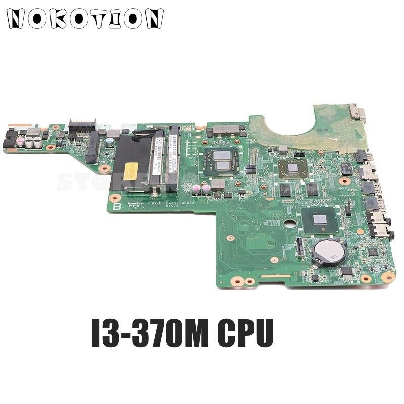 Материнская плата NOKOTION DAAX1JMB8C0 637584-001 для ноутбука HP Pavilion G62 CQ62, i3-370M ЦП HM55 HD6370M 512 Мб DDR3