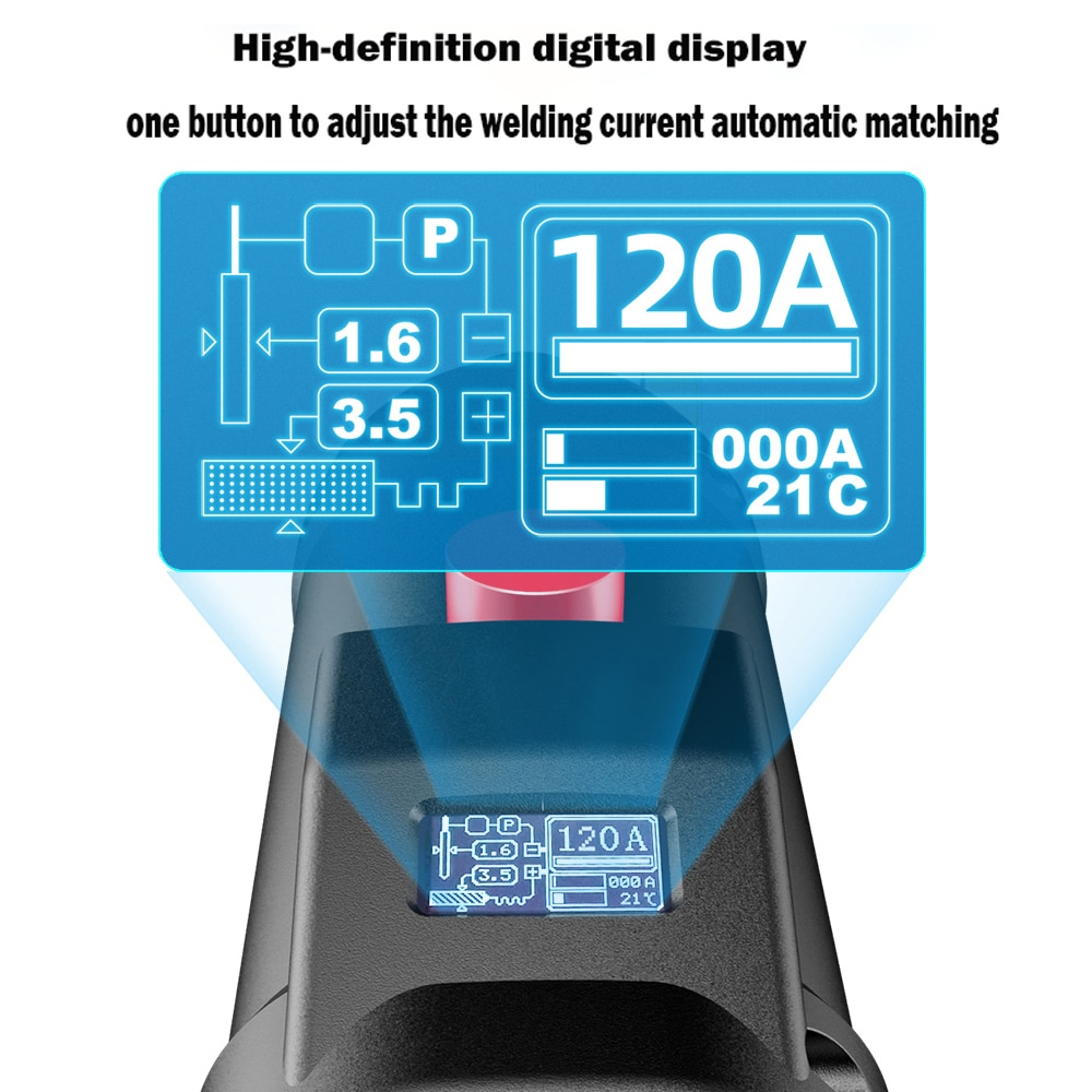 220V 3000W Handheld Portable Electric Arc Welding Machine Automatic Digital Intelligent Welding Machine Current Adjustment enlarge
