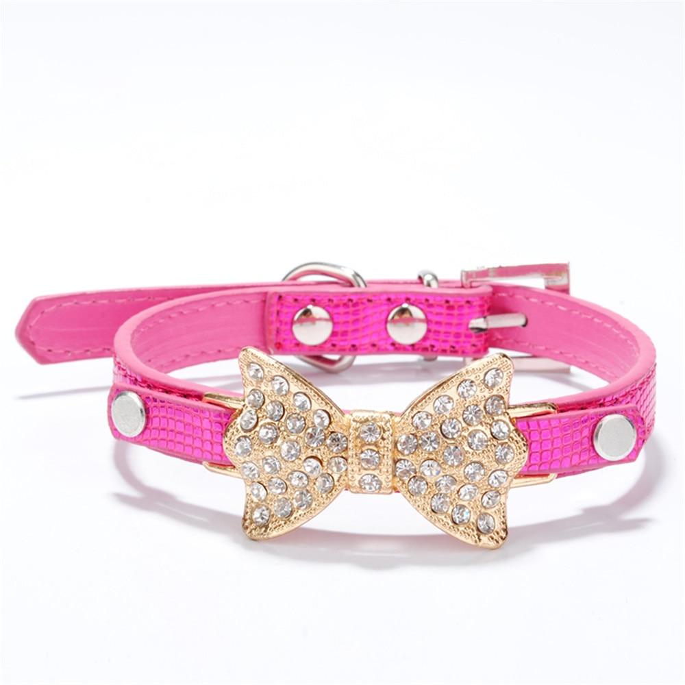 Collar de Perro de cristal ostentoso con lazo Para mascotas, Accesorios Para...