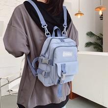 Fashion Small Backpack Canvas Women Mini Backpack Anti-theft Shoulder Bag School Bag for Teenager Girls School Backapck Female