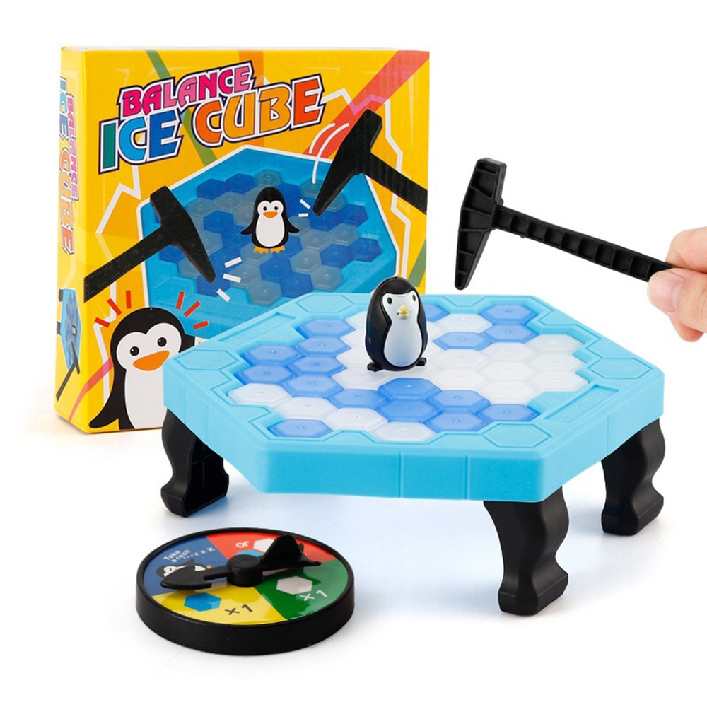 Juego de mesa para niños guardar trampa de pingüinos rompehielos conjunto de bloques de juguete juegos de mesa divertidos juego de mesa para padres e hijos