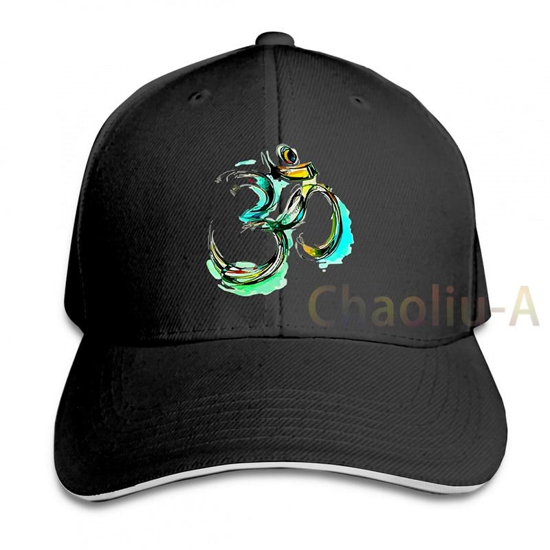 OM AUM Sketch Color Colored Art Yoga Vedic Hindu God Hinduism Meditation Religion Spirituality Baseball cap women Trucker Hats