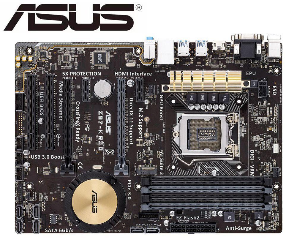 Placa base para ordenador de escritorio ASUS Z97-K R2.0, original, DDR3, LGA,...