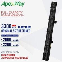 ApexWay A31N1319 14.4v bateria do portátil para Asus A41N1308 X551M A31LJ91 X451CA X451 X551 X451C X451M X551C X551CA 0B110-00250100