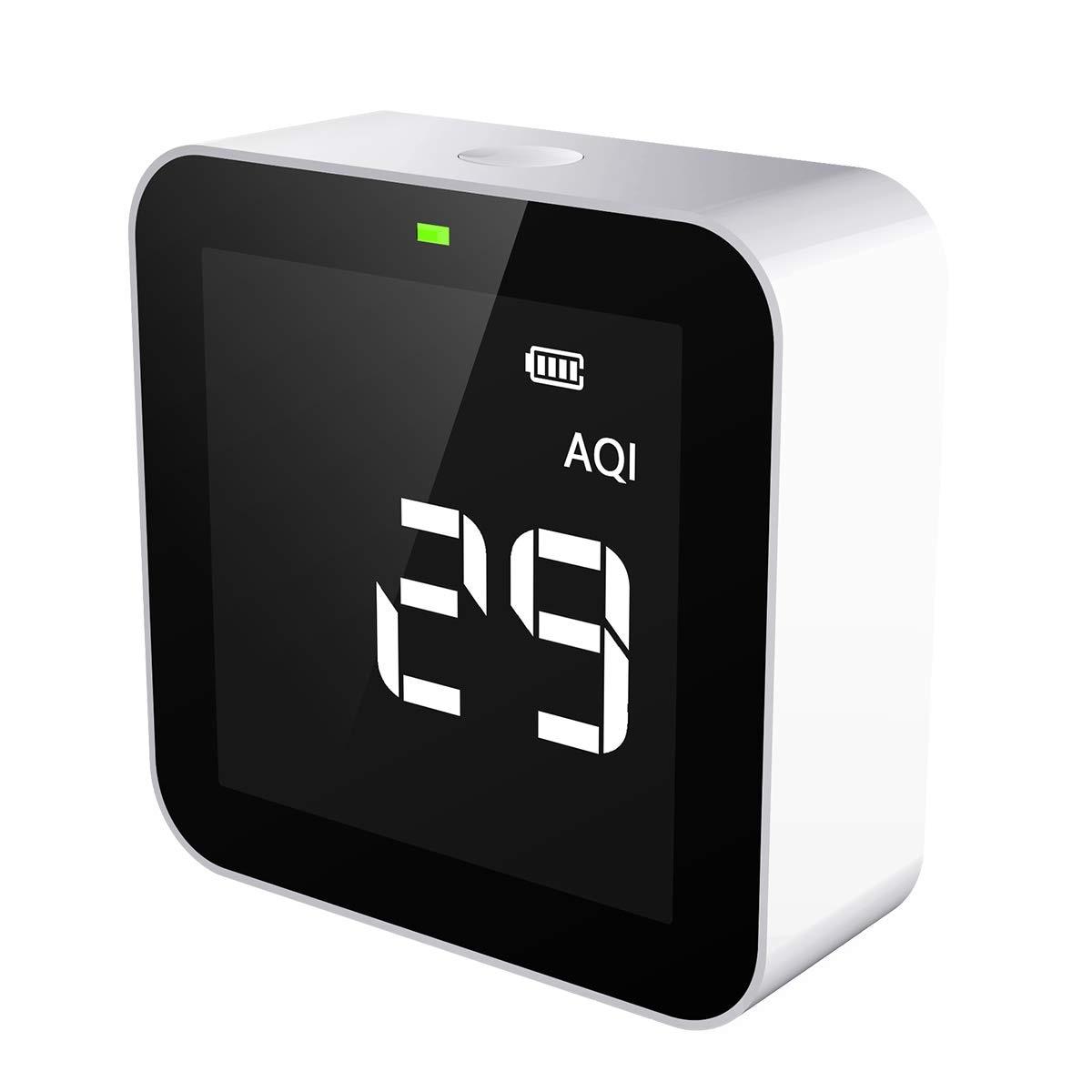 Temtop M10 مراقبة جودة الهواء لعرض PM2.5 HCHO TVOC AQI المهنية مستشعر الكهروكيميائية في الوقت الحقيقي