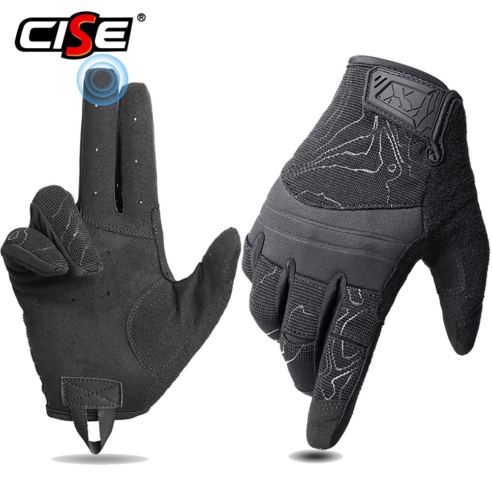 Перчатки для мотоциклистов, дышащие, с пальцами, для сенсорных экранов