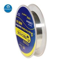 ميكانيكي فائقة غرامة الفضة سلك يطير خط FXV009 الدقة مرنة دائرة مخصصة 0.009 مللي متر فائق الدقة الفضة القفز سلك خط