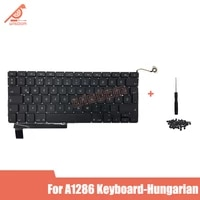 brand new keyboard for macbook pro15 a1286 hungarian keyboard with keyboard screws md318 md322 mb985 2009 2012 yeaer