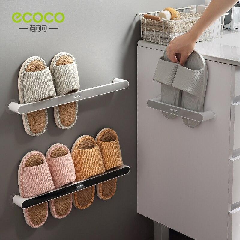 Qdrr banheiro chinelo rack de parede tipo pendurado sapatos de banheiro de armazenamento artefato buraco de toalete livre sapato rack de armazenamento #0832