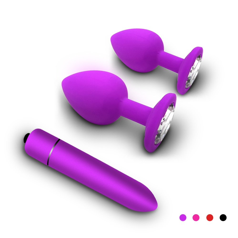 Silicone Anal Plug for Men Woman Vagina Clitoris Vibrators Erotic Waterproof Bullet Dildo Vibrator Adult Couples Game Sex Toys