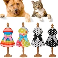 summer pet clothes wedding dog dress for dogs skirt summer princess dog dresses clothes for dogs skirts colored bow pet dress