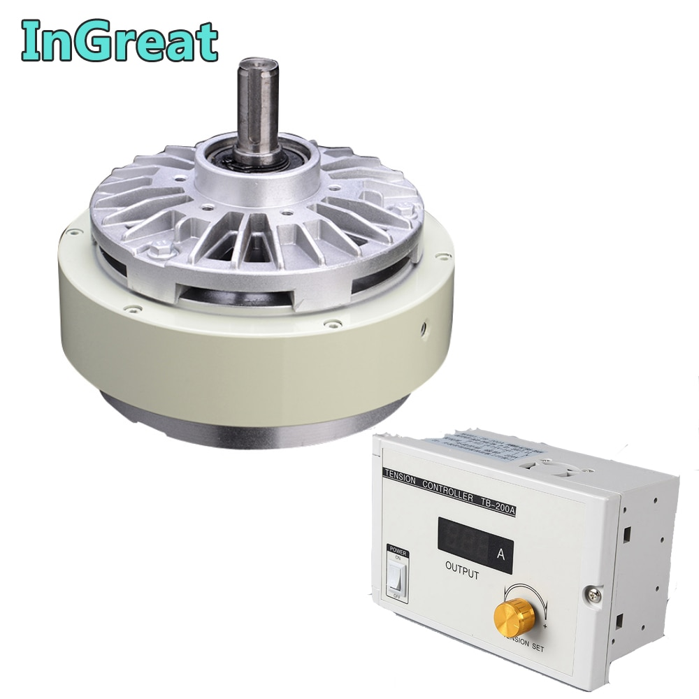 Magnetic Powder Brake  & 3A Manual Tension Controller 100Nm 10kg DC24V One Single shaft  For Bagging printing dyeing machine
