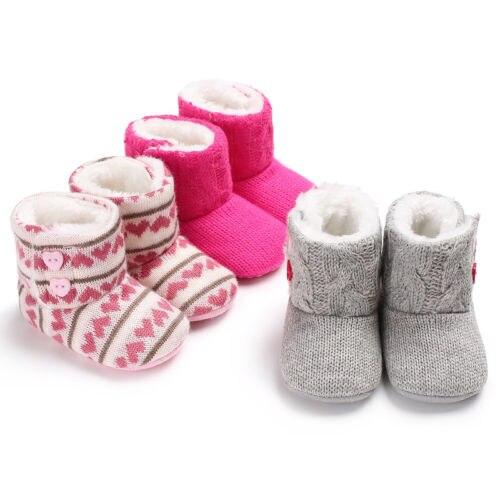 Pudcoco US Stock nueva moda niño recién nacido bebé niñas niños tejer Crochet zapatos invierno cálido cuna artesanal