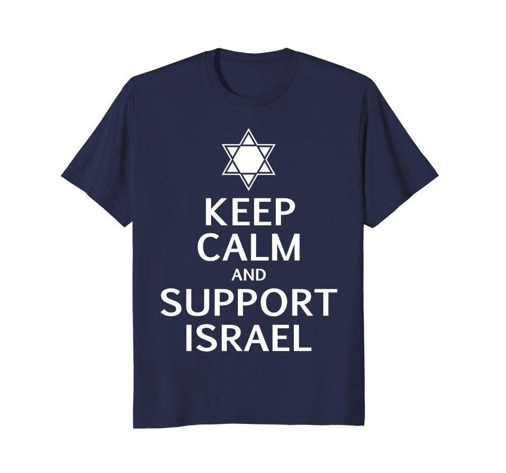 Camiseta Keep Calm apoyo Israel, estrella de David, Carry On 2019 gran oferta Super moda camisetas de cuello redondo para hombres camisetas de alta calidad