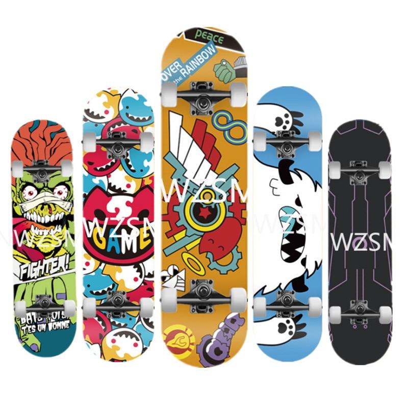 الرسوم المتحركة SK لوح التزلج لانهائي مع لوح التزلج الأسماك الكبيرة طويلة shinee مزدوجة أيضا sk8 مع لوح التزلج الصغيرة